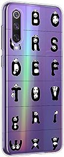 Oihxse beschermhoes van siliconen voor OnePlus 5T, ultradun, transparant, TPU-gel, zacht, ontwerp met schattig panda-motie...