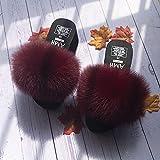 Kirin-1 Pantofole Pelose Donna Blu,Cursori Soffici Womns Arcobaleno Colore Spessore-40_p.