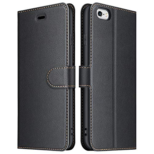 ELESNOW Case Compatible with iPhone 6 / 6s, High-grade Leather Flip Wallet...