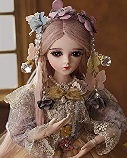 UCanaan BJD Doll, 1/3 SD Dolls 24 Inch 18 Ball Jointed Doll DIY Toys with Clothes Outfit Shoes Wig Hair Makeup, Best Gift for Girls - Carina
