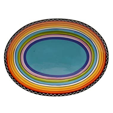 Certified International Tequila Sunrise Oval Platter, 16 by 12-Inch by Certified International