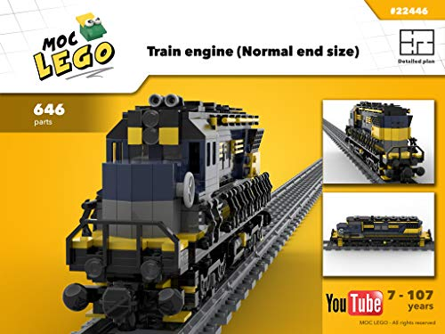 Train engine (Normal end size) (Instruction Only): MOC LEGO (English Edition)