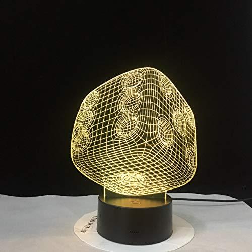 Würfel kreative Acryl Tischlampe Farbe Touch-Schalter Tischlampe Kinderzimmer Stimmung Lampe als Geschenk
