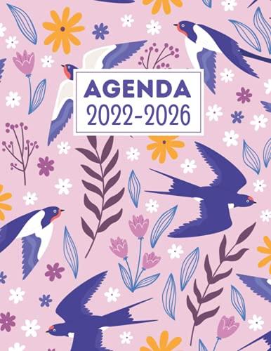 Agenda 2022 - 2026: Pianificatore A4 - 1 mese su 2 pagine 5 anni - mensile pianificatore Calendario 60 mesi.