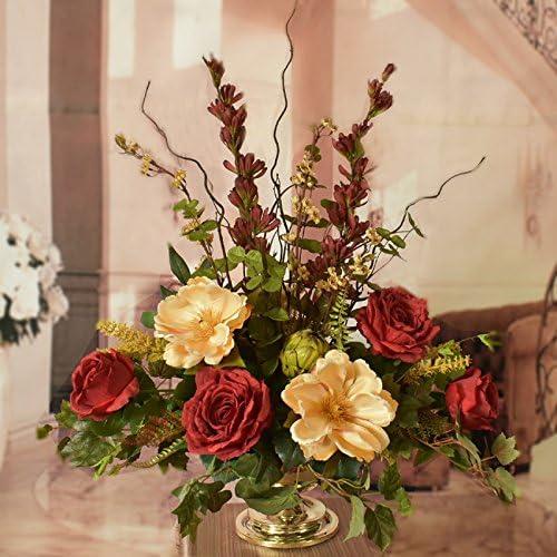 格安 Silk Floral Centerpiece with Roses 未使用品 Magnolias and