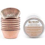 Gifbera Muffin-Cupcake-Förmchen Metallfolie Backförmchen Muffin Cups Cupcake Best Food Grade