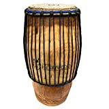 Classic Hand-carved African Quinto Conga Drum - 10x24 - Solid wood, Cow skin, Rope tuned...
