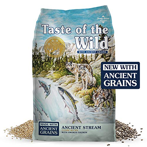 Taste of the Wild Pacific Stream Canine Grain-Free Recipe with Smoked Salmon Adult Dry Dog Food, Made with High Protein from Real Salmon and Guaranteed Nutrients Like Probiotics