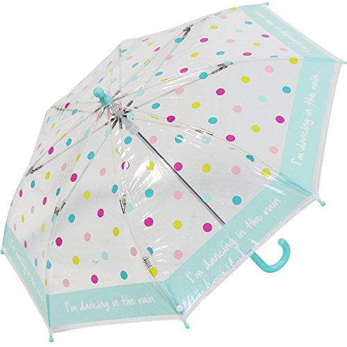 Regenschirm Kinder durchsichtig transparent Bambino Dots