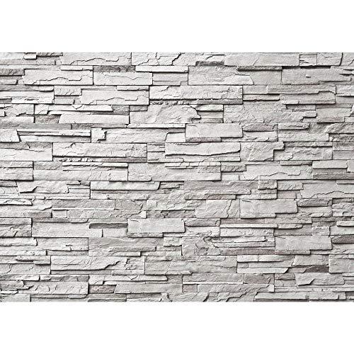 Fototapete 400x280 cm - ALLE TOPSELLER auf einen Blick ! Vlies PREMIUM PLUS - NOBLE GREY STONE WALL - Asian STONE WALL Steinwand Steintapete Wand Asia Steine - no. 019