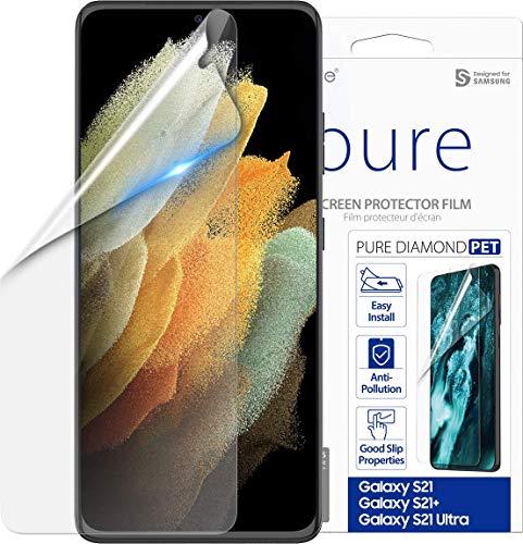【araree】 Galaxy S21 5G 対応 フィルム 液晶 エッジ 保護 指紋 反射防止 UVカット 保護フィルム 貼付ガイド 付 保護シール 高透過 画面保護シート 液晶保護フィルム [ Samsung GalaxyS21 ギャラクシー S21 ギャラクシーS21 / SCG09 / SC-51B 対応 ] Pure Diamond クリア