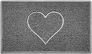 Nicoman HEART Embossed Shape Door Mat Dirt-Trapper Washable Barrier Doormat - (Use Indoor or Sheltered Outdoor) - (75x44c...