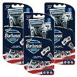 Barbasol Ultra 6 Plus Premium Disposable Razor Value Pack Bundle (3 Packs/9 Total Razors)