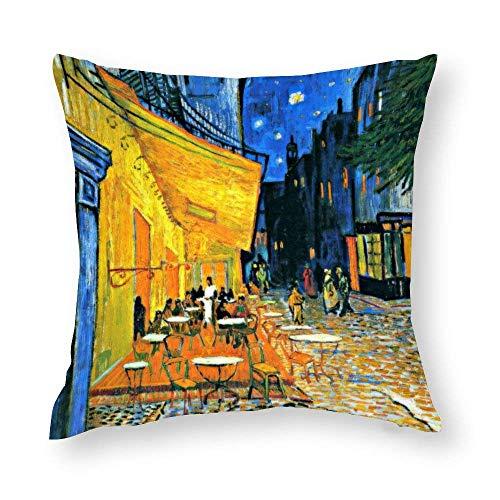 WH-CLA Fundas de almohada para cafetería terraza, famosa pintura caso, cojín con cremallera impresa, sofá de 45 x 45 cm, colorido decoración del hogar, fundas de almohada acogedoras