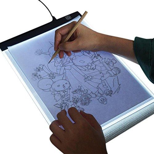 lā vestmon A4LED caja de luz Tracer Pad, portátil Dimmable Ultra Fina 3,5mm mesa de dibujo para dibujo abocetar Copia DIY diamante Pintura