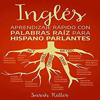 Inglés: Aprendizaje Rápido Con Palabras Raíz Para Hispano Parlantes [English: Quick Learning with Root Words for Hispanic Speakers] audiobook cover art