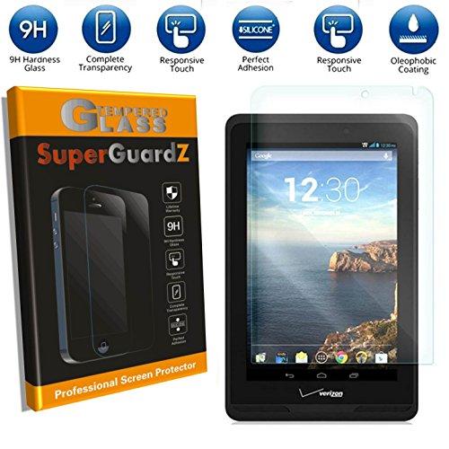 [2-Pack] for Verizon Ellipsis 7 - SuperGuardZ Tempered Glass Screen Protector, 9H, 0.3 mm, Anti-Scratch, Anti-Bubble, Anti-Fingerprint, Shatterproof
