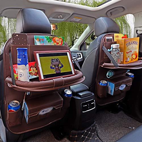 Auto Organizer Faltbarer Rückenprotektor für Kinder Ipad, braune Luxusmode