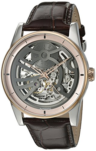 Kenneth Cole New York Men's 'Automatic' Automatic Stainless Steel and Brown Leather Dress Watch (Model: 10022561)