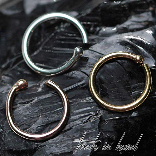 Solid 18k Gold 7mm Ball End Nose Ring All Gauges Available