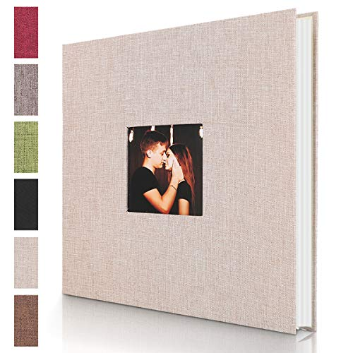 Self Adhesive Photo Album Magnetic Scrapbook Album with 40 Pages Hardcover DIY Photo Album Hand Made Memory Book Holds 3×5 4×6 5×7 6×8 8×10 Photos for Wedding Birthday Christmas Anniversary