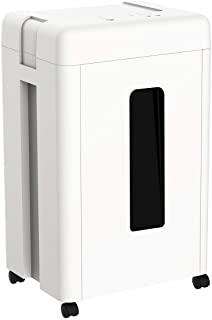 WOLVERINE 15-Sheet Super Micro Cut High Security Level P-5 Heavy Duty Paper/CD/Card Shredder for Home Office, Ultra Quiet ...