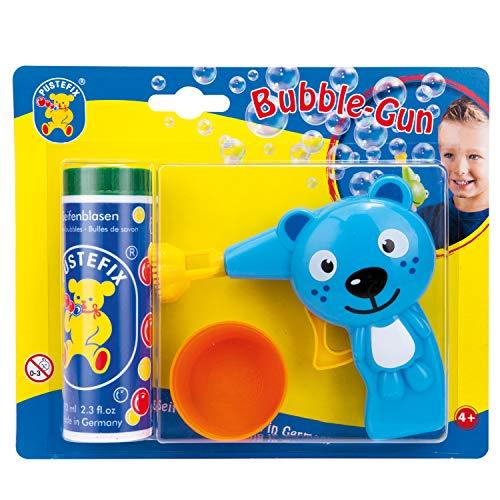 Pustefix Bubble-Gun Katze I 70 ml Seifenblasenwasser I Seifenblasen Spielzeug Made in Germany I Bubble Pistole für Kindergeburtstag, Hochzeit & als Gastgeschenk I Spaß für Kinder & Erwachsene