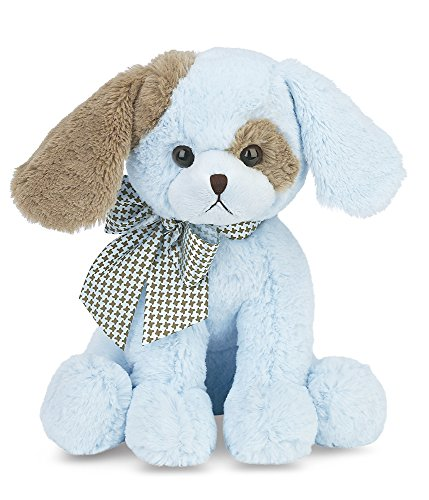 Bearington Baby Waggles Lullaby, Animated Musical Puppy Dog (Blue) 13'