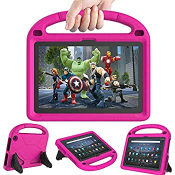 Fire HD 10 & Fire HD 10 Plus Tablet Case for Kids 11th Generation 2021 Release  - DICEKOO Lightweight Shockproof Kid-Proof Cover with Stand for Kindle Fire HD 10 Kids Tablet & Kids Pro Tablet - Pink