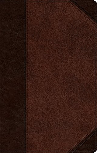 ESV UltraThin Bible (TruTone, Brown/Walnut, Portfolio Design)