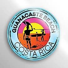 2-Pack Gunacaste Beach Costa Rica Decal Sticker |3-inch Round | Premium Quality Vinyl Sticker | UV Protective Laminate | PD1522