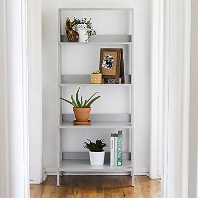 "WE Furniture 30"" Wood Ladder Bookshelf - Black from Walker Edison Furniture Company"