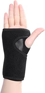 Wrist Support, Carpal Tunnel Splint Brace Protection for Relief Carpal Tunnel Syndrome, Muscle Sprains, RSI and Arthritis Pain