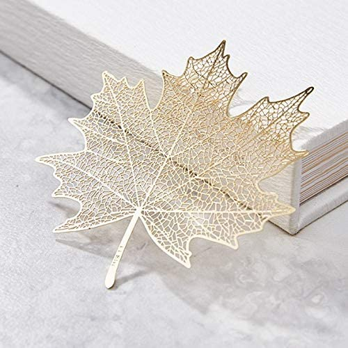 Tubeshine 18K New color Finally resale start Golded Plated Metal Delicate Bookmark Bookma Leaf