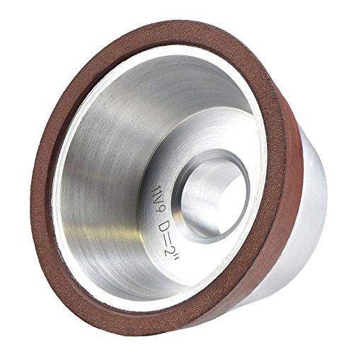 MaxTool Diamond 11V9 Flaring Cup Grinding/Abrasive Wheels OD 2' Bore 0.5' T1' G150 Resin Bond NDR11V9D2T25X4G15