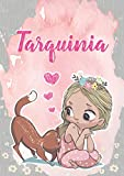 Tarquinia: Taccuino A5 | Nome personalizzato Tarquinia | Regalo di compleanno per moglie, figlia, sorella, mamma | Design: gatto | 120 pagine a righe, ... formato A5 (14.8 x 21 cm) (Italian Edition)