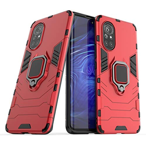 BAIYUNLONG Funda para Huawei NOVA 8 funda de teléfono, anillo de rotación de 360 grados, funda para teléfono inteligente, funda a prueba de golpes para Huawei NOVA 8 (color: rojo)