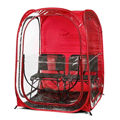 Under The Weather Red MyPodDoubleX 2 Person Pop-up Weather Pod. The Original, Patented WeatherPod