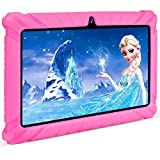 Contixo Kids Tablet V8, 7-inch HD, ages 3-7, Toddler Tablet with Camera, Parental Control - Android 10, 16GB, WiFi, Learning Tablet for Children with Teacher's Approved Apps and Kid-Proof Case, Pink