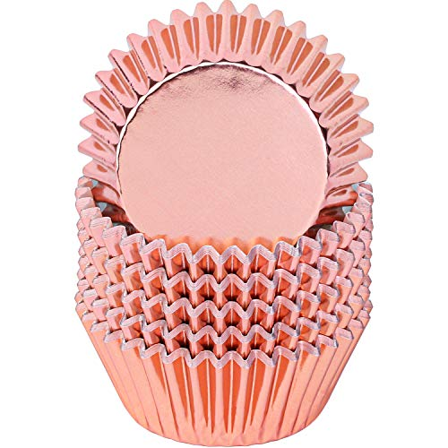 Rose Gold Metallic Cupcake Liners (100 ct)
