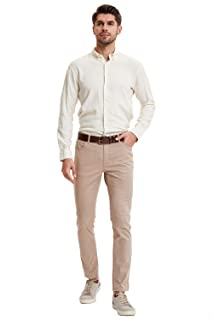 DeFacto Side Pocket Button and Zip-Up Closure Straight Fit Pants for Men
