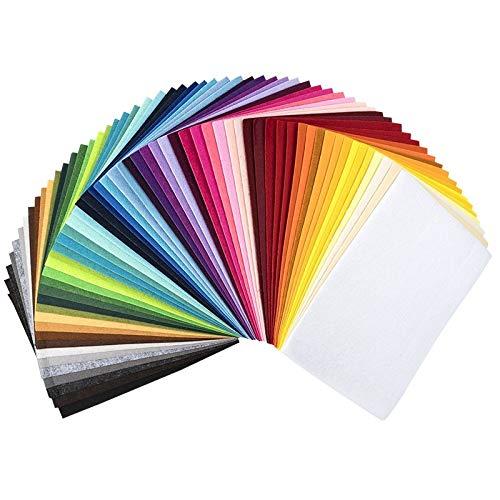 Ideen mit Herz Filz, 2mm stark, DIN A4, 60 Bogen | DIY, Patchwork, Handwerk, Filzstoff, Bastelfilz (60 Farben)
