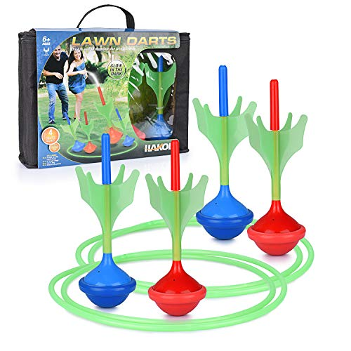 Lawn Darts Game – Glow in The Dark, Outdoor Backyard Toy for Kids & Adults   Fun for The Entire Family   Work On Your Aim & Accuracy While Having A Blast
