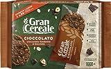 Gran Cereale Cioccolato, Biscotti con Cioccolato Fondente e Nocciole, Confezione 216 g con 6 Monoporzioni da 4 Biscotti