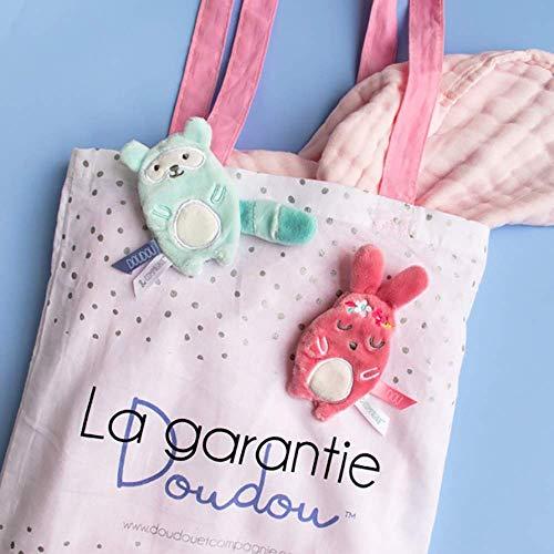 Doudou et Compagnie Lapin Bonbon Petit Modele - Taupe