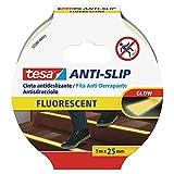 Tesa 55580-00001-11 55580-00001-11-Cinta antideslizante-5m x 25mm Amarilla fluoresc, Standard