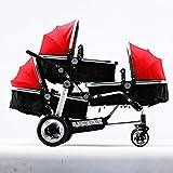 SKYyao Silla de paseo,Cochecito,Cochecito de bebé de trillizos cochecito bebé carro cochecito de alta vista