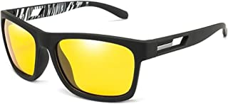 ZMP PC Frame Polarized UV400 Sunglasses Ultra Light Colorful Eye Protection Anti-UV Sunglasses (Color : Yellow)