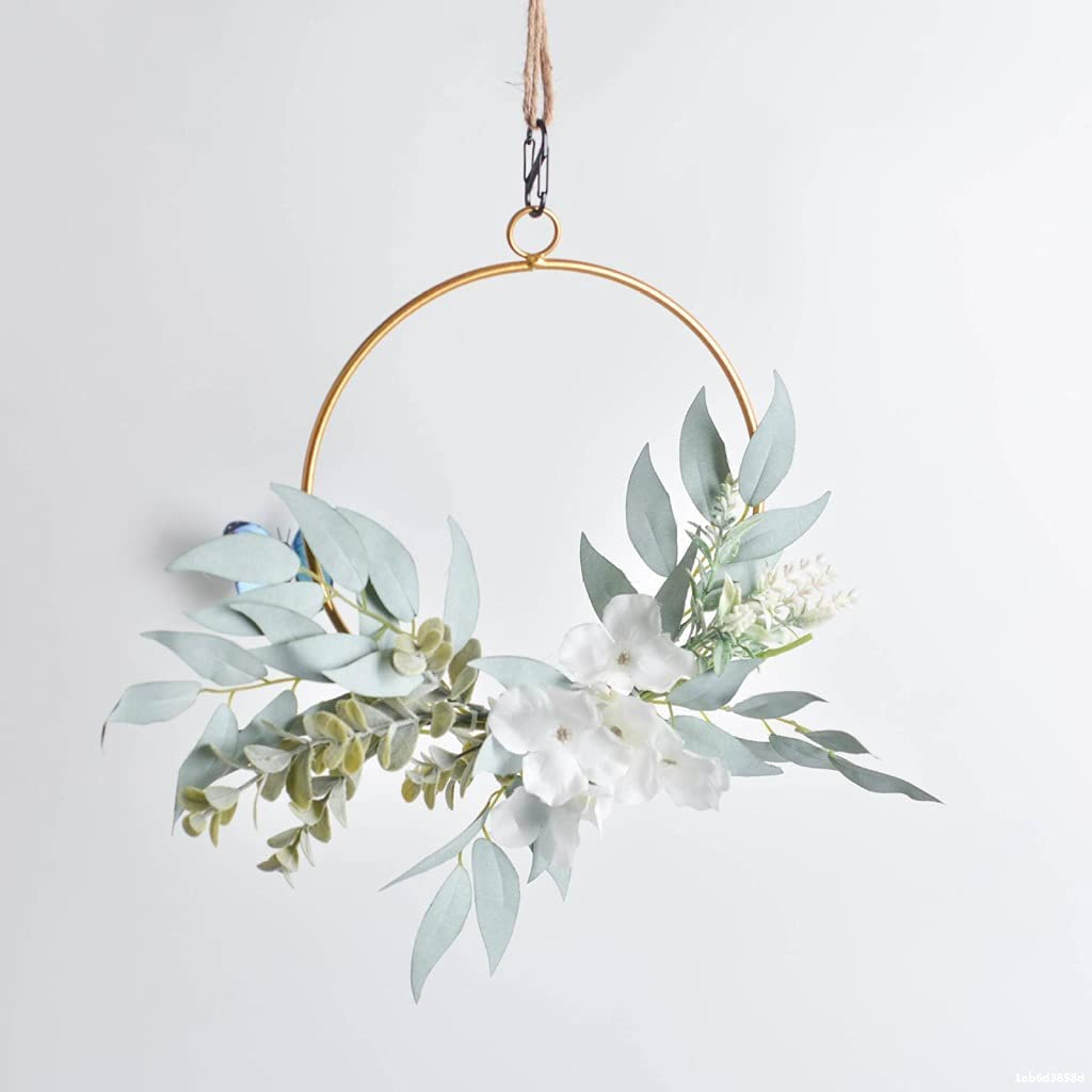 ZNBJJWCP Wrought Iron Artificial Wreaths Super sale Decoration Hanging Courier shipping free Wall