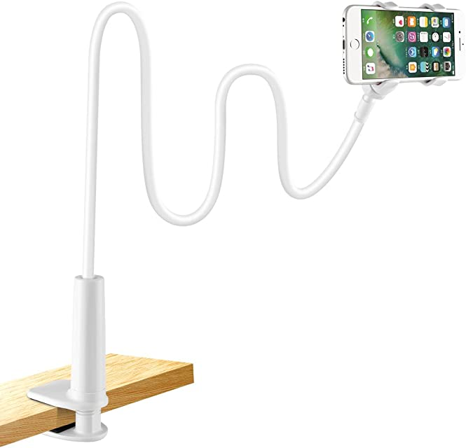 Soporte para teléfono móvil lonzoth Teléfono Móvil Soporte Cuello de cisne Soporte universal Soporte para iPhone Smartphone Teléfono Móvil (Phone Stand White)